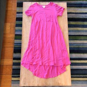 LuLaRoe High Low Dress Fuchia xxs